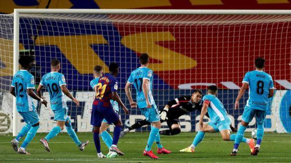 Ansu Fati sostiene el liderato del Barcelona frente a un Leganés frágil | 2-0