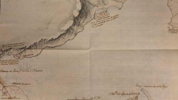 Un mapa inédito de 1798 refleja el plan de España para defender La Habana de navíos ingleses