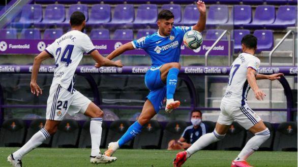 El Real Valladolid logra puntar ante un Getafe volcado ofensivamente |1-1