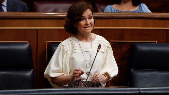 Carmen Calvo se hace un lío al contestar a Espinosa de los Monteros