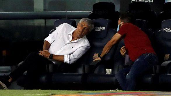 En plena decepción del Barcelona, Suárez ataca a Setién y éste, a Griezmann