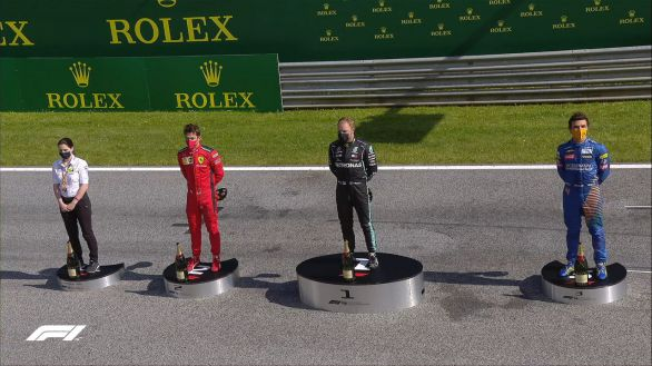 F1. Primera victoria para Bottas y podio para Norris en una carrera de locura