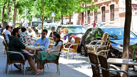 Desde este lunes las terrazas madrileñas podrán ser utilizadas al 100%.
