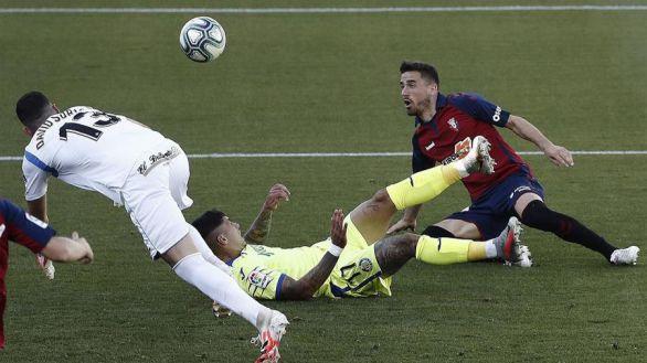 Empate a nada entre Osasuna y Getafe |0-0