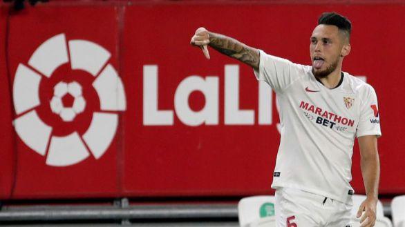 El Sevilla avanza hacia la Champions con Ocampos y Navas decisivos | 1-0