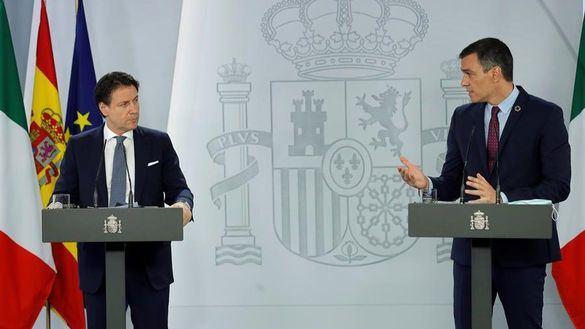 Sánchez y Conte unen sus fuerzas para presionar a la UE en el fondo de recuperación