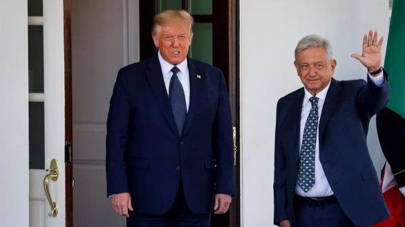 Trump se deshace en elogios hacia los mexicanos durante la visita de López Obrador