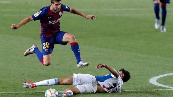 El Barcelona venga el 'Tamudazo' certificando el descenso del Espanyol |1-0