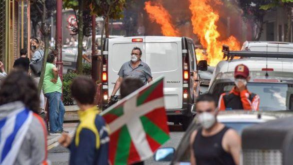 Cuatro detenidos por incidentes contra un mitin de Vox en Baracaldo