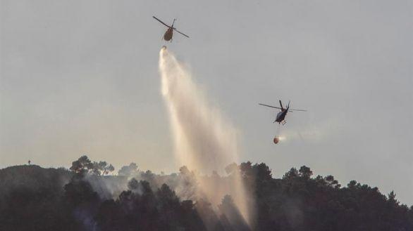 Nueve incendios forestales activos en siete provincias