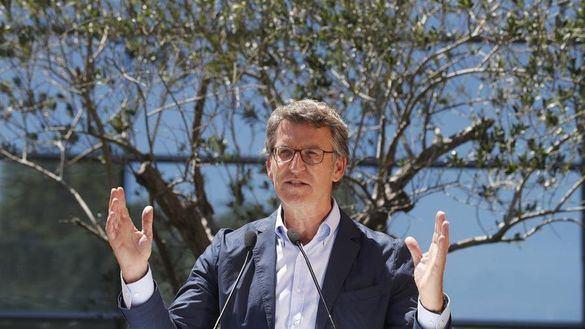 Feijóo respalda el liderazgo de Casado tras su victoria en Galicia