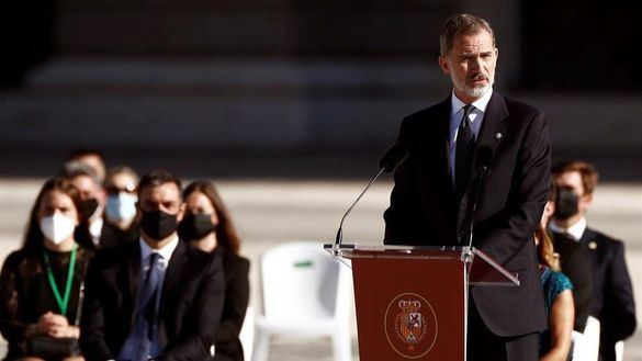 Discurso íntegro del Rey en el homenaje de Estado a las víctimas de la Covid-19