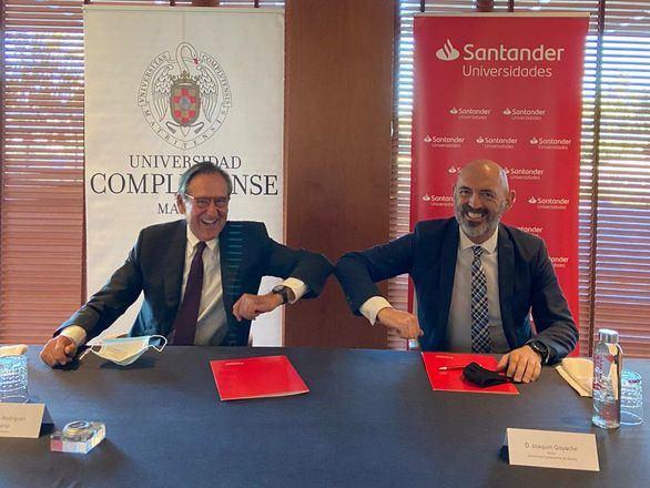 Santander y la UCM refuerzan su colaboración en Educación frente a la Covid-19