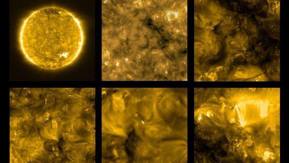 Solar Orbiter capta imágenes nunca antes vistas de 'hogueras' en el Sol