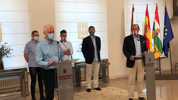 El alcalde de Logroño y otros 20 miembros de la Ejecutiva, aislados por Covid-19