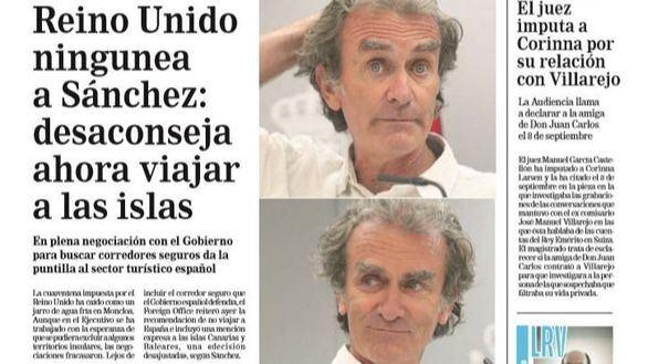 Las portadas de los periódicos de este martes, 28 de julio