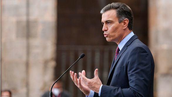 El presidente del Gobierno, Pedro Sánchez, durante su intervención al inicio de la XXI Conferencia de Presidentes.