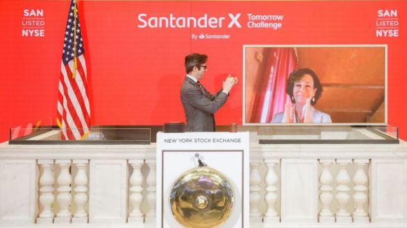 Ana Botín da el toque de campana en la Bolsa de Nueva York
