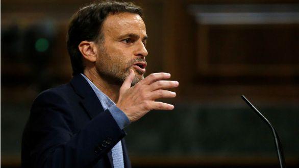 El portavoz de En Comú-Podem, Jaume Asens, durante su intervención ante el pleno del Congreso de los Diputados.