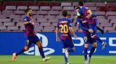 Un efectivo Barcelona se impone al Nápoles y saca billete a Lisboa |3-1