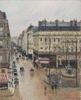 Rue Saint-Honoré por la tarde. Efecto de lluvia, de Pissarro, seguirá en el Thyssen