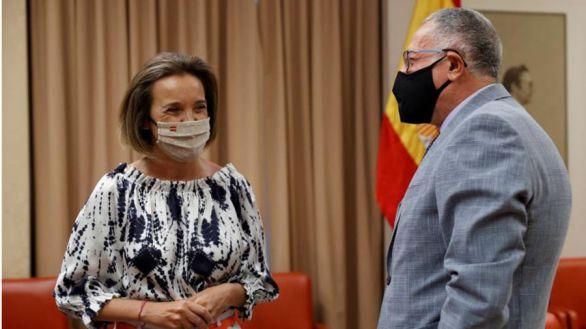 Cuca Gamarra se estrena como portavoz en la Diputación Permanente