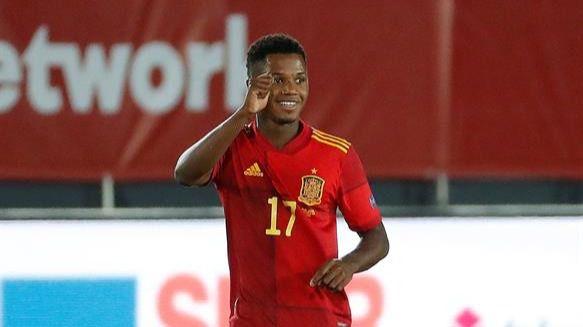 Liga de Naciones. Ansu Fati enamora y España acribilla a Ucrania | 4-0