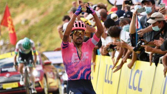 Tour de Francia. Daniel Martínez gana en Puy Mary y Roglic y Pogacar meten miedo