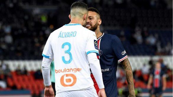 Lío en la liga francesa: el PSG respalda a Neymar tras su bronca con Álvaro González