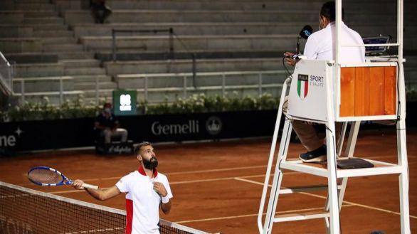 ATP. El tremendo show de Paire en Roma que escandaliza al tenis