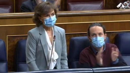 Calvo excusa la ausencia de Sánchez ante el PP: