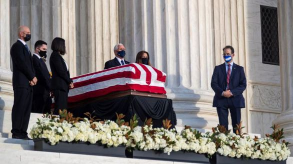 Estados Unidos despide con honores a la jueza del Supremo Ruth Ginsburg