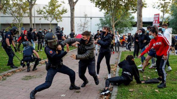 Protesta ante la Asamblea de Madrid: cargas policiales, tres detenidos y seis heridos