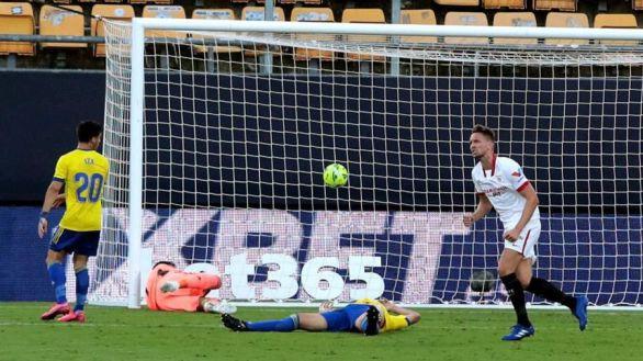 El Sevilla gana al Cádiz en el descuento   1-3