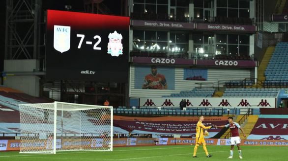Premier. Segunda goleda histórica de la jornada: 7-2 del Aston Villa al Liverpool