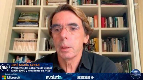 Aznar votaría 'no' a la moción de censura de Vox: