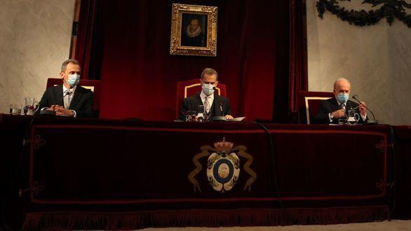 El Rey preside la Apertura del curso de las Reales Academias del Instituto de España