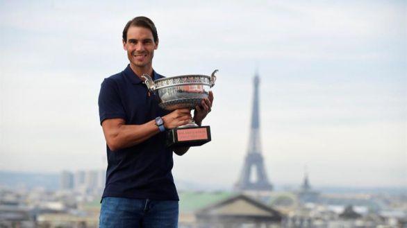 Nadal, otra vez ante la Torre Eiffel y el mensaje de la mujer de Djokovic