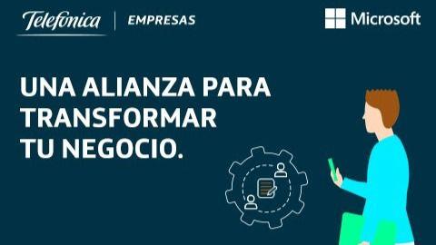 Telefónica y Microsoft unen fuerzas para hacer más asequible la digitalización a las pymes españolas