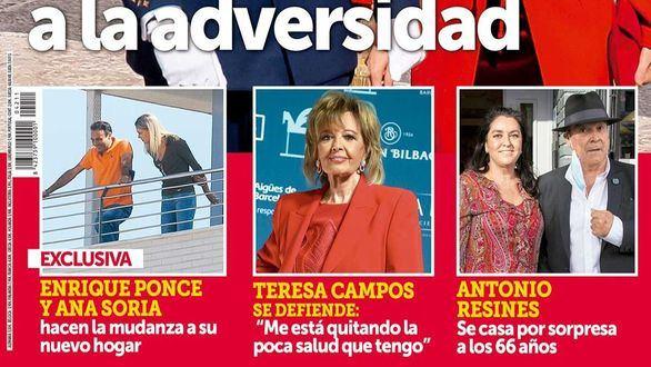 Enrique Ponce y Ana Soria se mudan a un ático y Antonio Resines se casa por sorpresa