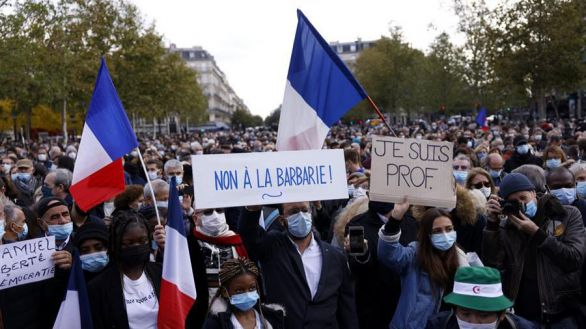 Manifestación masiva en Francia contra el terrorismo