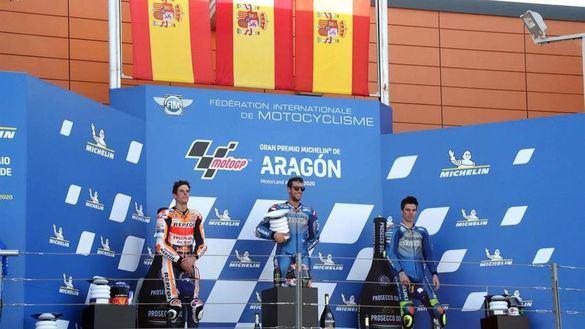 GP Aragón. España arrasa: Rins gana, Mir es líder y Álex Márquez logra su segundo podio