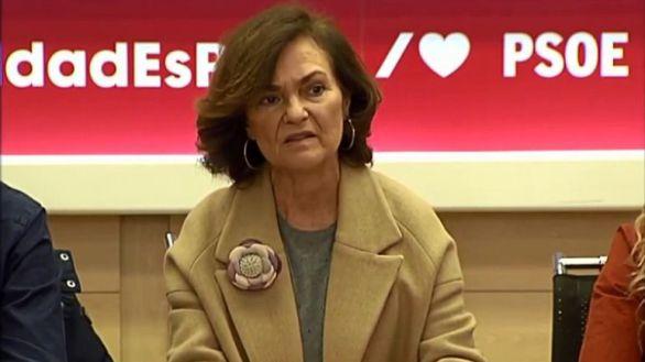 """FAES, sin piedad contra Carmen Calvo: """"Oye campanas sin saber dónde"""""""