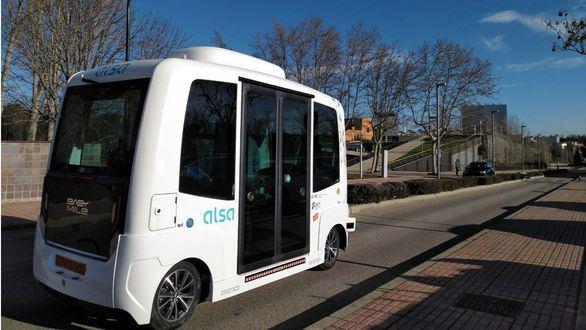 Madrid estrena el servicio de bus sin conductor en la Universidad Autónoma