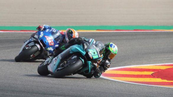 GP Teruel. Morbidelli triunfa pero Rins y Mir se aferran al podio