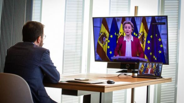 Aragonès aprovecha la reunión con Von der Leyen para pedir un referéndum