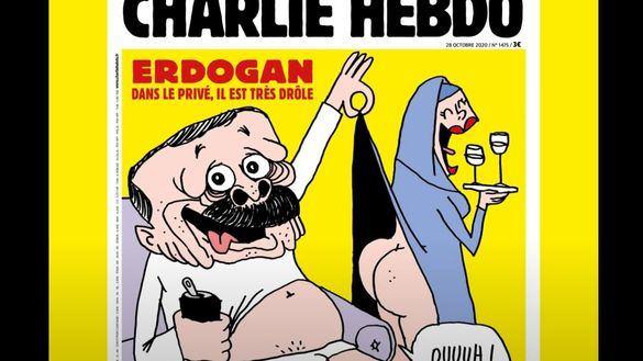 Charlie Hebdo indigna a Turquía al retratar a Erdogan con alusión a Mahoma