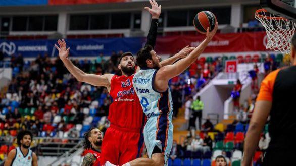 Euroliga. El Valencia Basket no llega a la orilla en casa del CSKA | 84-75