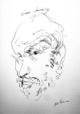 Caricatura de Sean Connery.