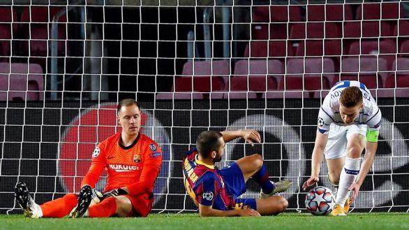 Ter Stegen regresa para salvar al Barcelona del sonrojo ante el Dinamo de Kiev |2-1